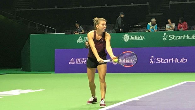 VIDEO EXCLUSIV Antrenament Simona Halep la Singapore